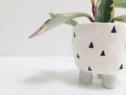 Katia Carletti Ceramic Footed Planter