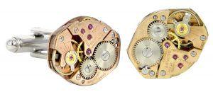 Gold C225 re-purposed watch cufflinks - http://www.lordcoconut.com/shop/gold-c225-watch-cufflinks/