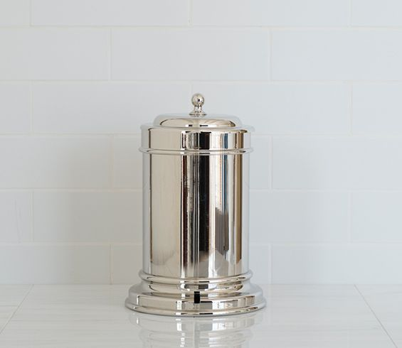 Classic Pedal Bin shown in Nickel