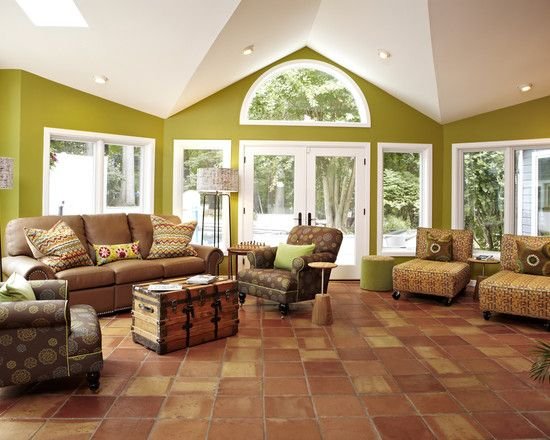 47 best Saltillo Tile Design Ideas images on Pinterest Haciendas - tile living room floors