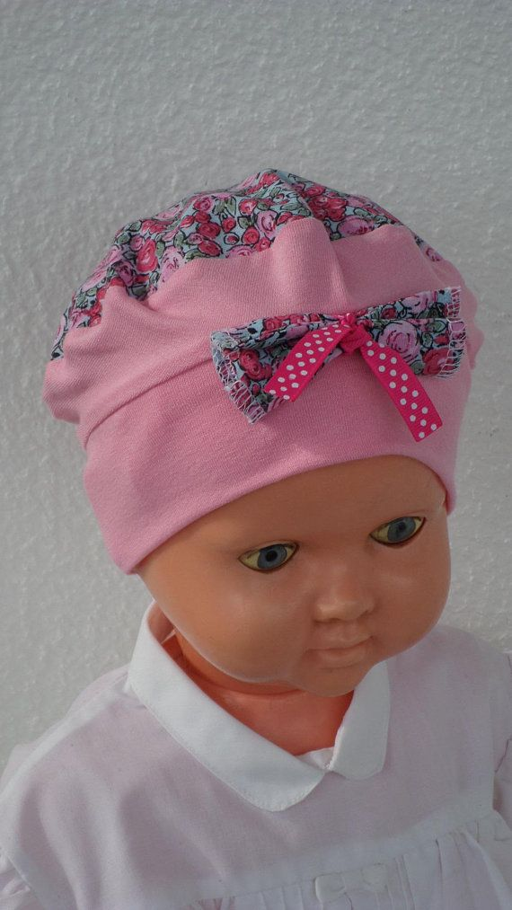 Hat beret Hat turban, baby gift for newborn, cotton Jersey, pink and blue  printed flowers, soft and stretchy   Pinterest   Chapeau turban, Bonnet bébé  et ... fe187bc52a0