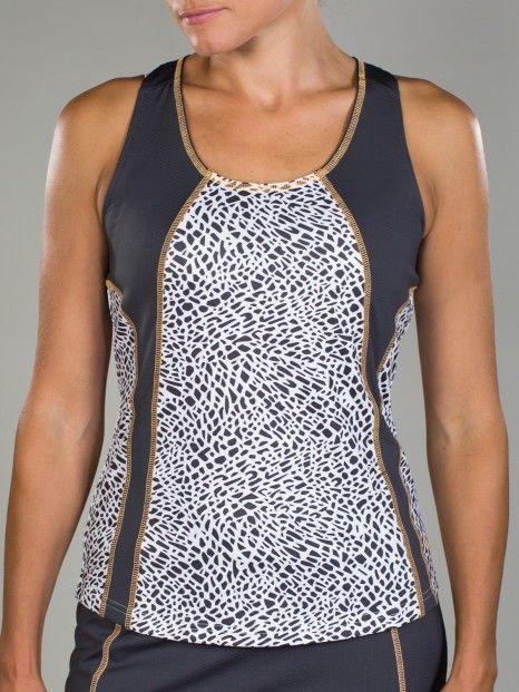 Sonoma JoFit Ladies & Plus Size Tech Crocodile Print Tennis Tank Tops #lorisgolfshoppe