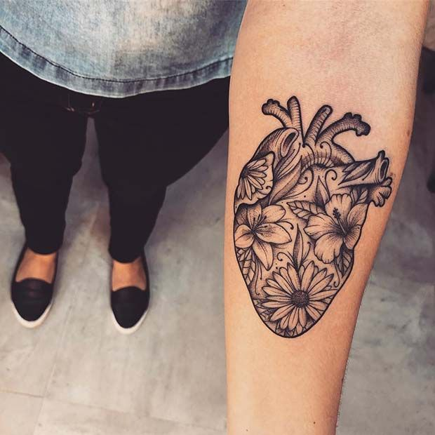 23 super cute heart tattoos for girls