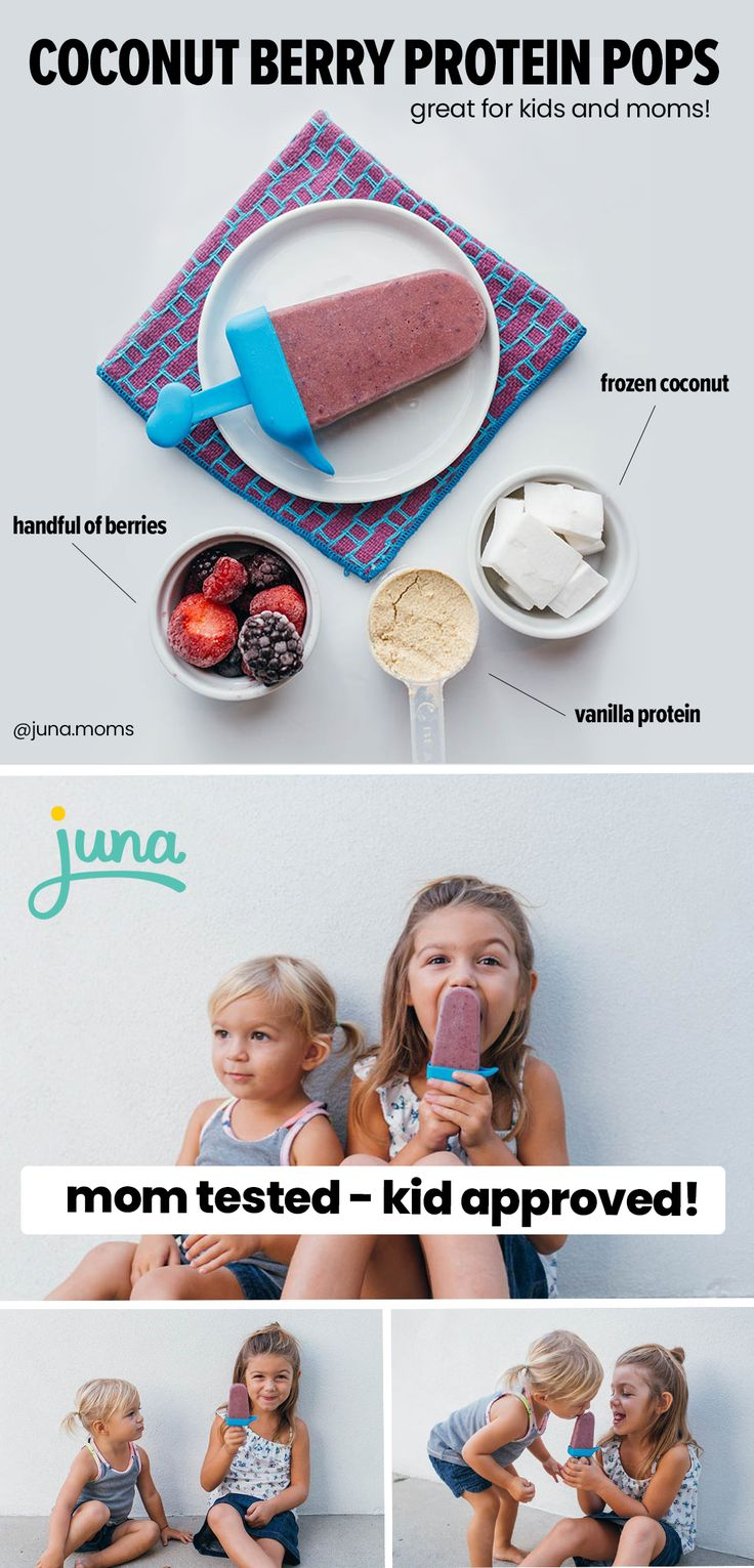 Coconut Berry Protein Pops (Great Mom Hack!) Mom kid