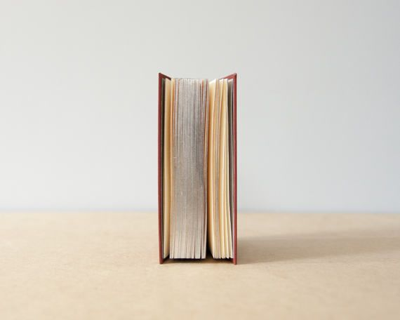 Thick Rust Hardcover Silver Edges & Round Spine  Sketchbook