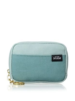 37% OFF Kate Spade Saturday Women's Canvas Coin Wallet, Steel Blue/Lagoon