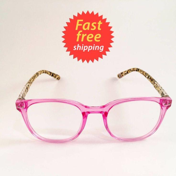 Betsey Johnson Reading Glasses Tortoise Pink Face Leopard Legs Round Lens +2.50 #BetseyJohnson