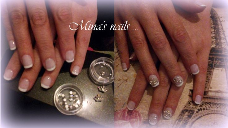 French nails with the jewel or without...... Gorgeous!!!!!!!!!
