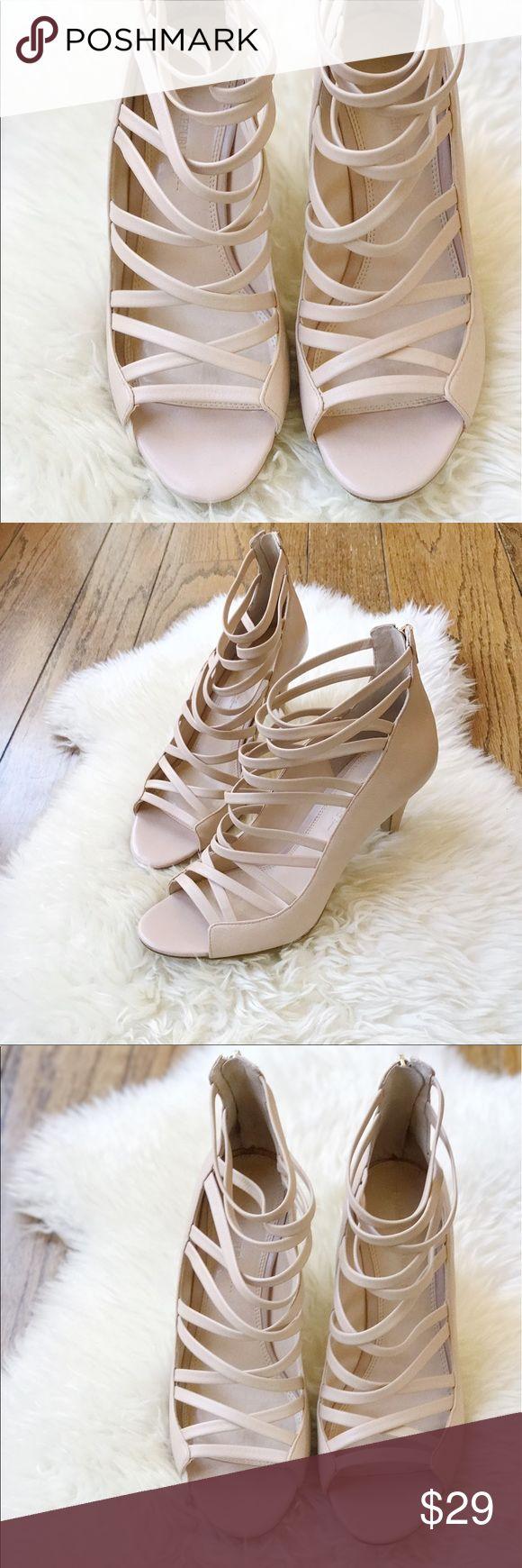 Nude banana republic heels Nude strappy cage heels from banana republic. Excellent condition. Banana Republic Shoes Heels