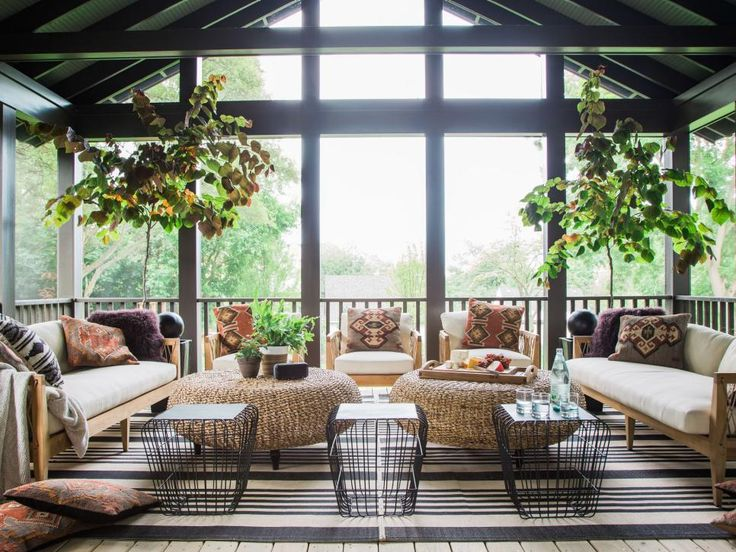 screened porch pictures from hgtv urban oasis 2016 - Glass Front Living Room 2016