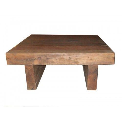 Mesa de centro rustica de madeira demoli o 1680 arte - Mesas de centro rusticas ...
