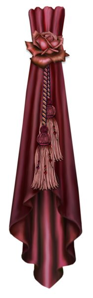 Curtain Red Decor PNG Clipart Picture