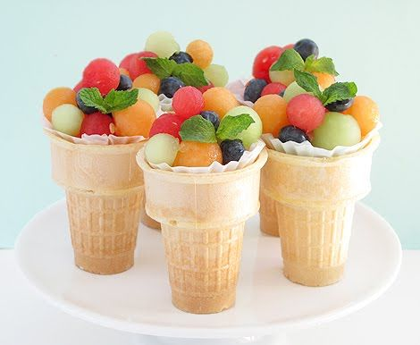 A fun way to serve fruit at a children's party!