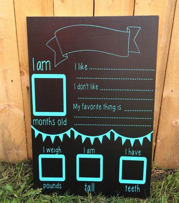 Milestone chalkboard photo prop for by InfiniteDesigns4u on Etsy
