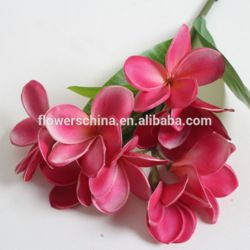 High quality artificial flowers, foam plumeria flowers wholesale