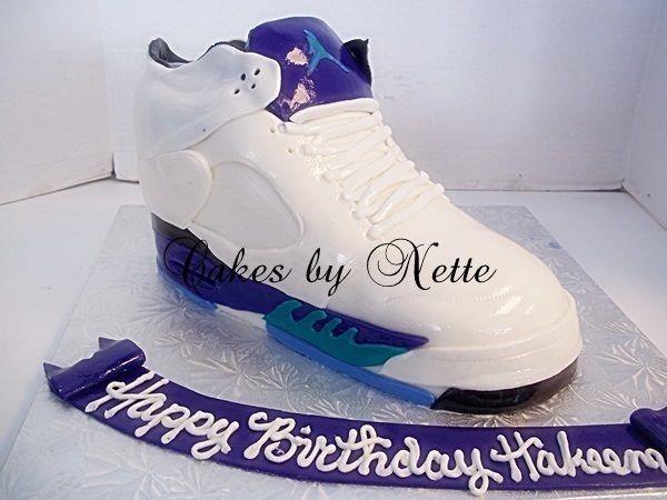 3 D Jordan Shoe Cake Cakes By Nette Men Cakes