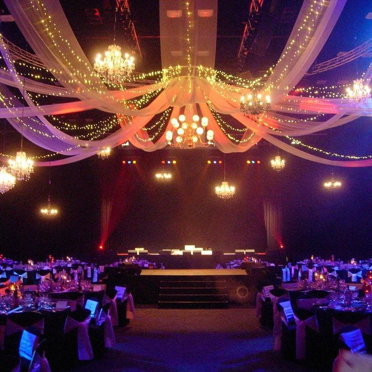 Lush drapes and chandeliers at the Adelaide Convention Centre- events that stand out! Lush Lighting Adelaide