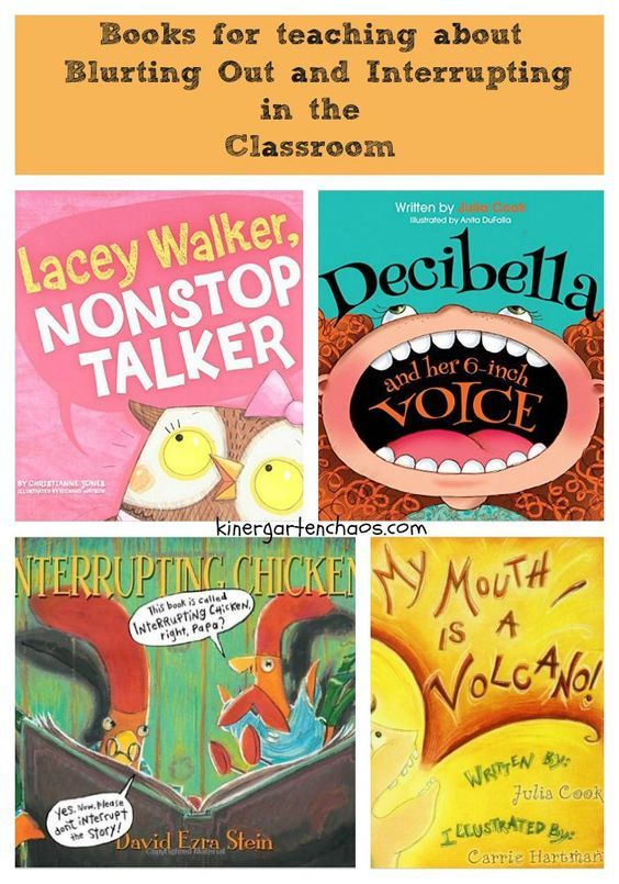 Books for Teaching About Blurting Out and Interrupting in the Classroom