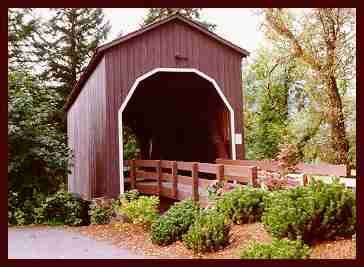 The Pass Creek covered bridge is one of 51 existing truss spans in the state.  In addition to being one of the oldest bridges in Oregon, this is one of the few that is within city boundaries. The original bridge was built in the 1870's as part of the overland stage route from Roseburg to Scottsburg.