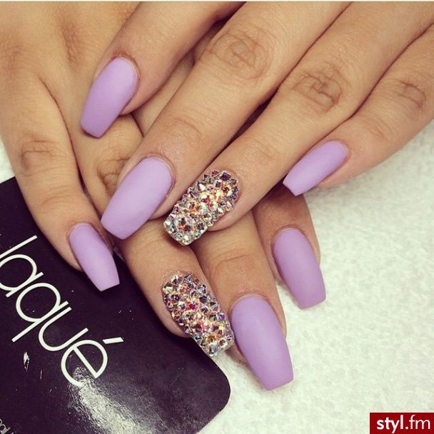 Lilac with gem accent