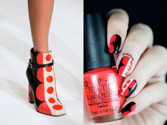 Valentino shoes inspired nails by Didoline's Nails