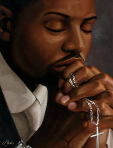 black artist paintings of men | black art | black church - gma - 1