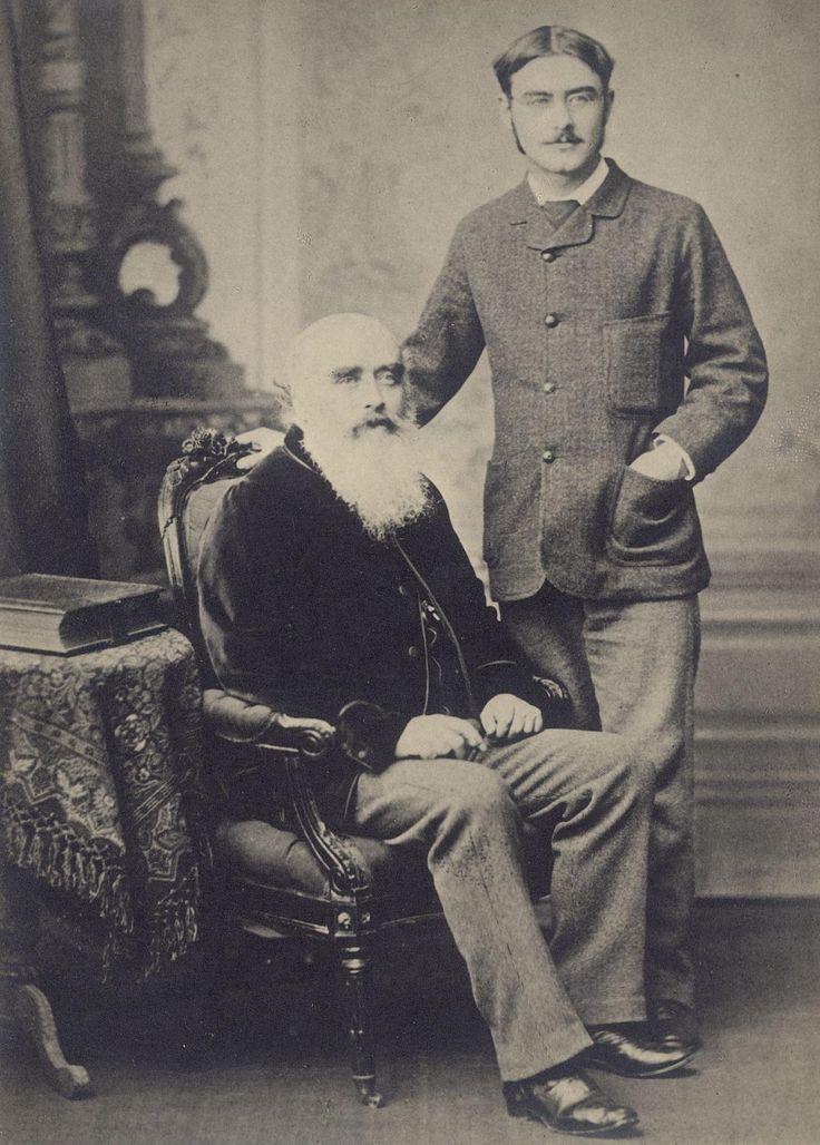 Rudyard Kipling with his father, John Lockwood Kipling c