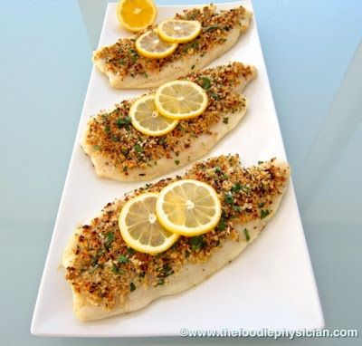 Flounder Oreganata from The Foodie Physician