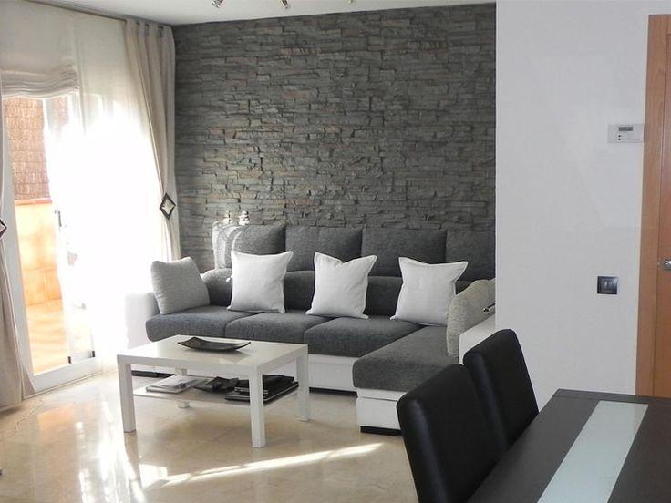 Paredes decoradas con piedra pizarra - Muros sinteticos decorativos ...