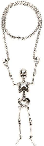 Vivienne Westwood Silver Giant Skeleton Necklace