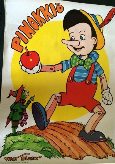 original vintage movie poster hungary 1970s pinocchio walt disney