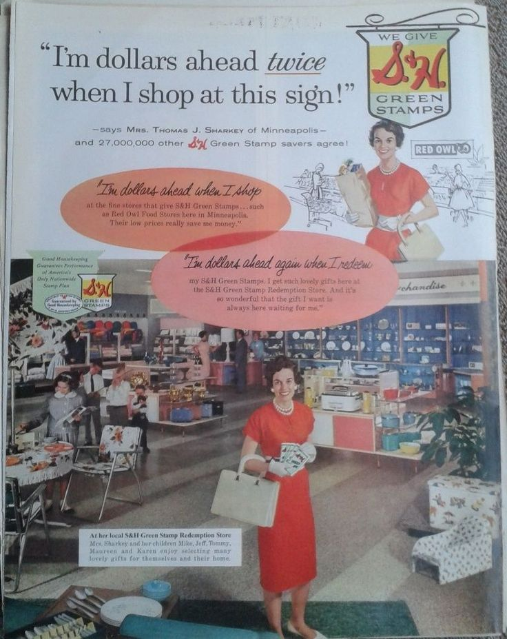 1960 Combination S Amp H Green Stamps Red Owl Food Stores Ad