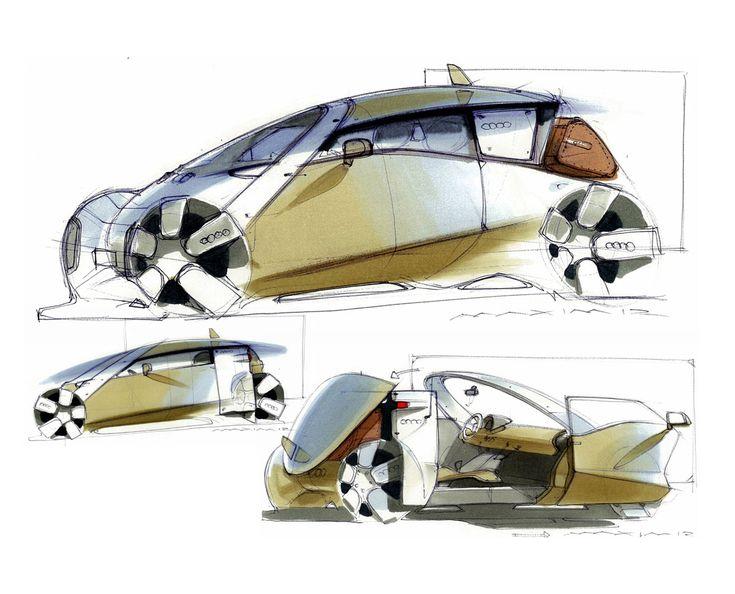 Skoda Concept design sketches by Maxim Shershnev