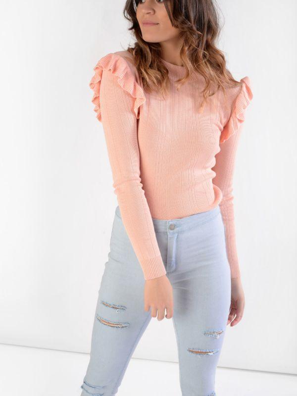 Peachy frill jumper