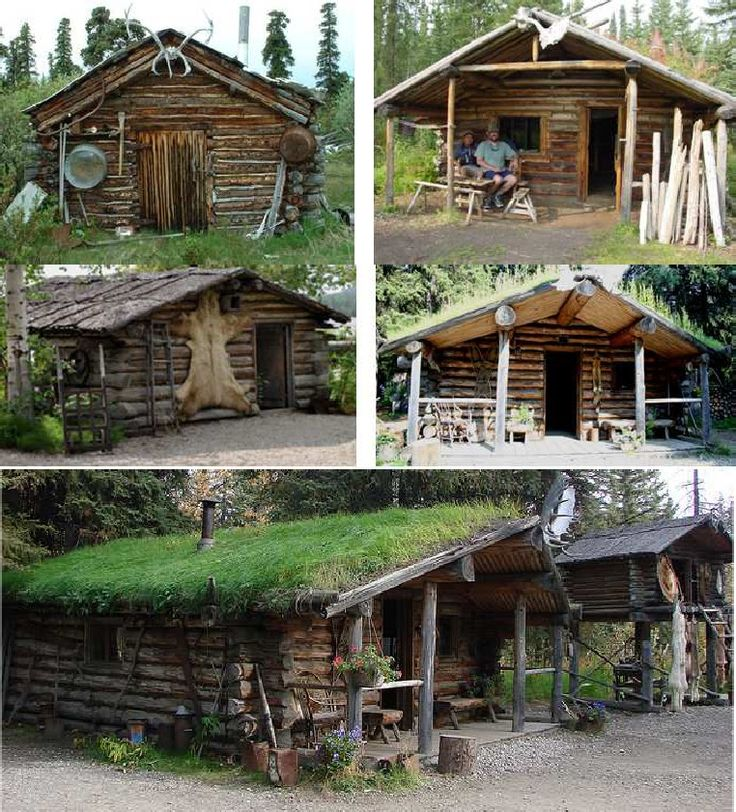 17 best images about log cabins on pinterest hunting for Small survival cabin