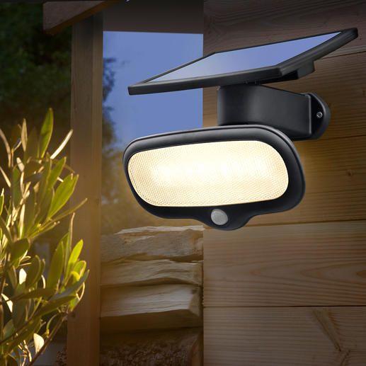 500 Lumen Solar-Sicherheitslicht - Heller als eine 60 Watt Birne – und kein Cent Stromkosten.