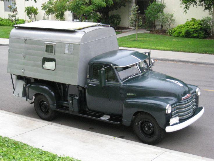 Steve McQueen's 1952 Chevrolet Pickup with Camper http://www.motorhome-travels.co.uk/