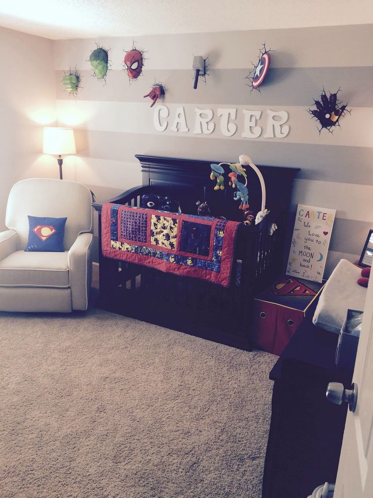 Superhero boy nursery