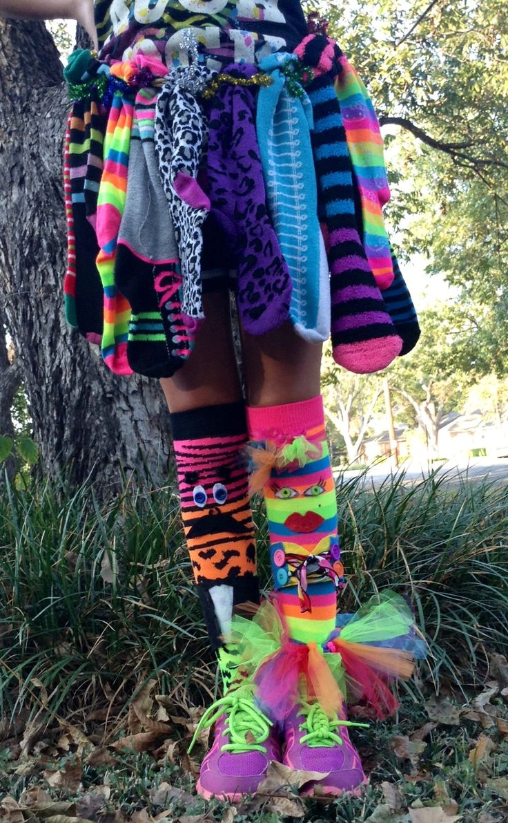 Crazy sock day at school.