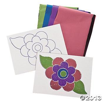 Flower Stickers & Foil Activites
