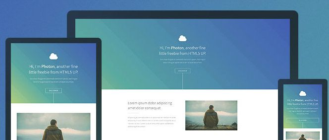 Photon- Free One page HTML5 Template