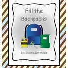 Fill the Backpacks is a vocational task that helps students learn assembly skills and following directions. This task also can be used for speech t...