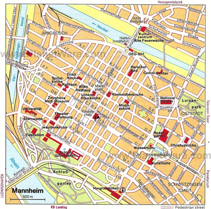 Map Of Mannheim Germany - Germany map mannheim