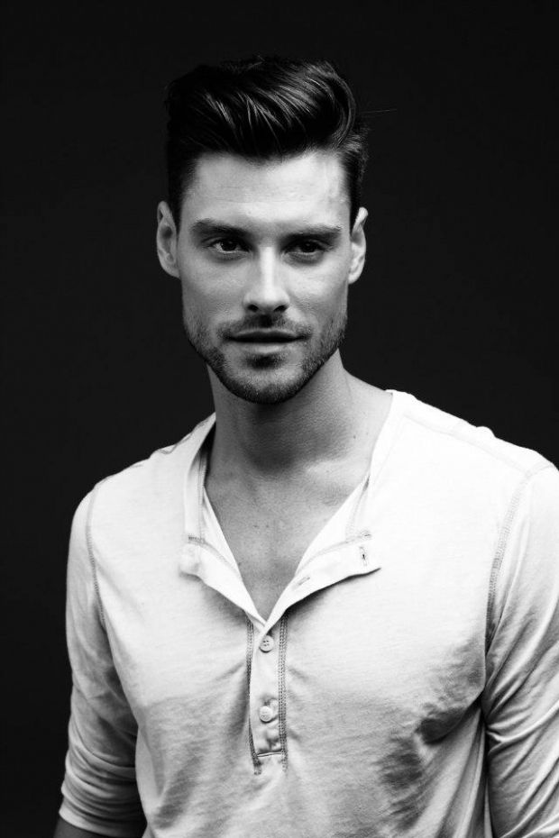 On trend; Men's modern pompadour hairstyle, see link for how to...