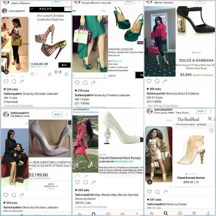 Model Sepatu High Heels & Wedges Terbaru Syahrini Agar Badan Tinggi