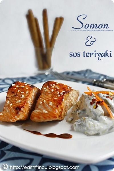 SOMON CU SOS TERIYAKI- Teriyakieste un sos de origine japoneza, in care se poate marina/praji carnea. Pestele asta este atat de usor de facut insa atat de bun… Cum sunt un fan s
