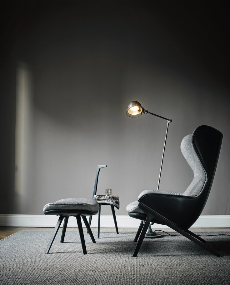 It has the bourgeois soul of a classic French bergère and the ergonomic design of an astronaut's seat; the informal intimacy of a cosy English domestic scene and the quiet tranquillity of a spaceship as it travels through outer space.