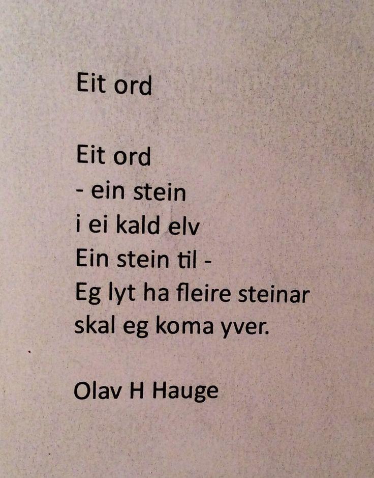 Eit ord - Olav H. Hauge