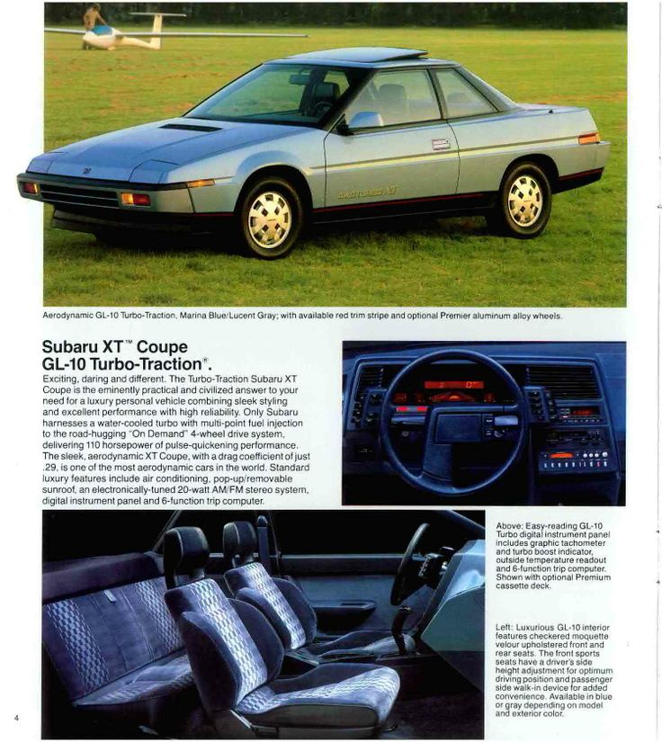 1986 Subaru XT Coupe GL10 TurboTraction. With a drag