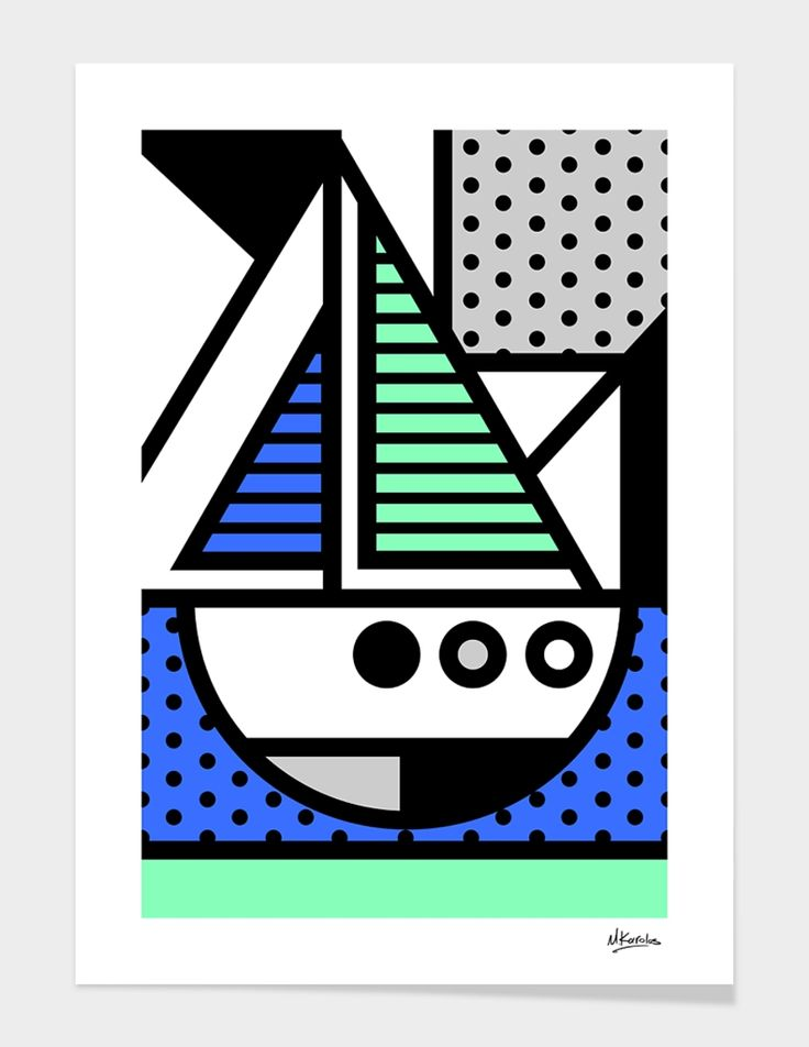 """""""Abstracts 101: Sail"""", Exclusive Edition Fine Art Print by Mike Karolos - From $35.00 - Curioos"""